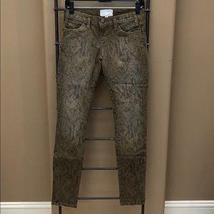 Current Elliot Snake Skin Jeans